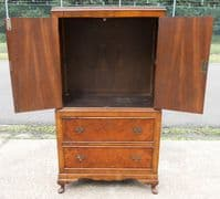 Walnut Tallboy Chest with Brass Hinges - SOLD